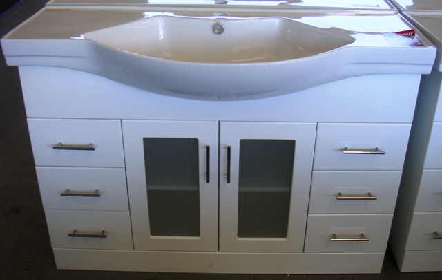 Bathroom Vanities Yatala 1200mm lucus vanity porcelain top two pac | gold coast