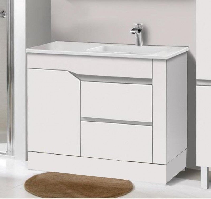 900mm casper vanity porcelain top two pac gold coast for Bathroom cabinet 900mm high